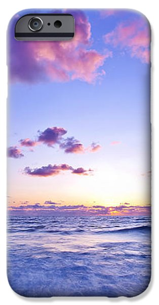 Pink sunset on the beach iPhone Case by Anna Omelchenko