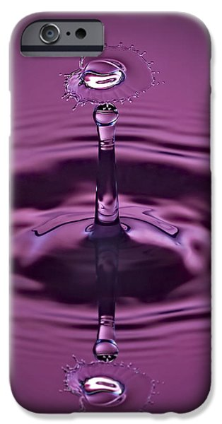 Water iPhone Cases - Pink Water Art iPhone Case by Susan Candelario