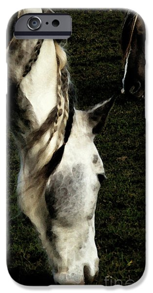 Gray Hair Digital Art iPhone Cases - Piomingo iPhone Case by Linda Knorr Shafer