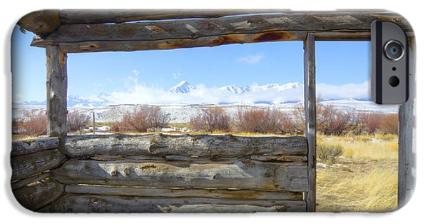 Cabin Window iPhone Cases - Pioneer Cabin iPhone Case by Idaho Scenic Images Linda Lantzy