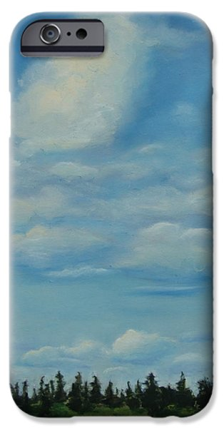 Clouds Pastels iPhone Cases - Pioneer Clouds  iPhone Case by Marie-Claire Dole