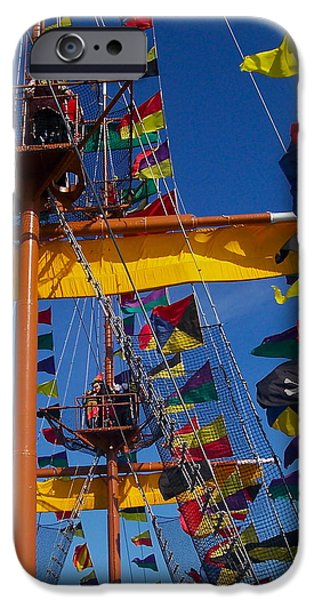 Recently Sold -  - Pirate Ships iPhone Cases - Pirate Flag iPhone Case by William  Carson Jr