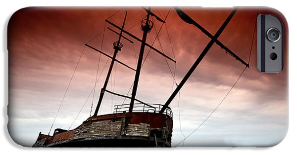 Pirate Ship iPhone Cases - Pirate Ship 2 iPhone Case by Cale Best