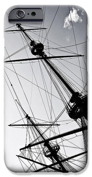 Pirate Ship iPhone Cases - Pirate Ship iPhone Case by Joana Kruse