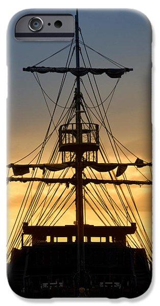 Pirate Ship iPhone Cases - Pirate Ship iPhone Case by Stylianos Kleanthous
