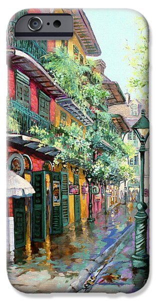 French Quarter Paintings iPhone Cases - Pirates Alley iPhone Case by Dianne Parks