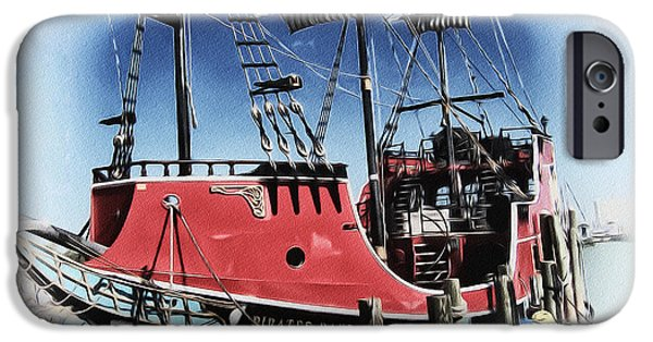 Pirate Ship iPhone Cases - Pirates Ransom - Clearwater Florida iPhone Case by Bill Cannon