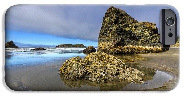 Tidal Creek iPhone Cases - Pistol Beach iPhone Case by Debra and Dave Vanderlaan