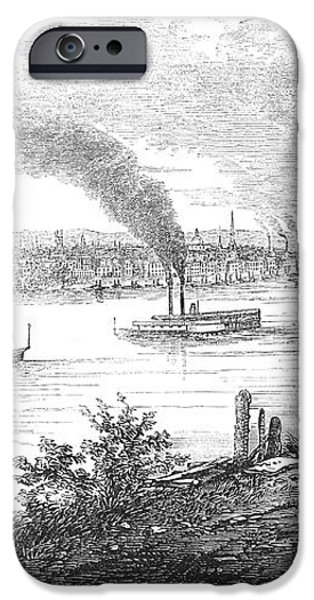 PITTSBURGH, 1853 iPhone Case by Granger