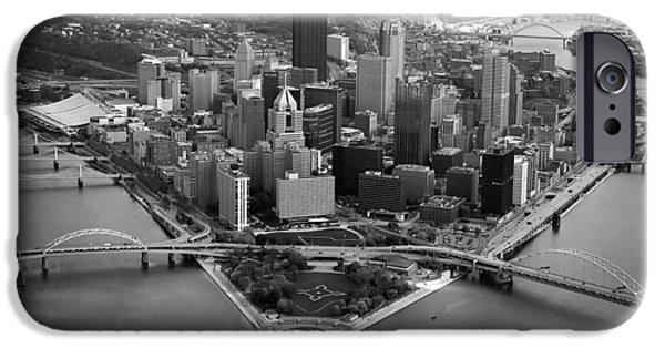 Heinz Field iPhone Cases - Pittsburgh 8 iPhone Case by Emmanuel Panagiotakis
