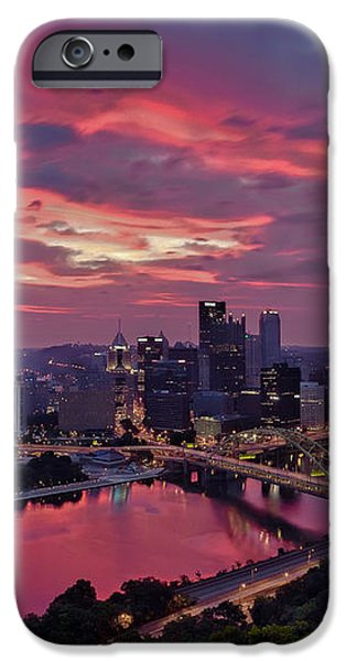 Pittsburgh Dawn iPhone Case by Jennifer Grover