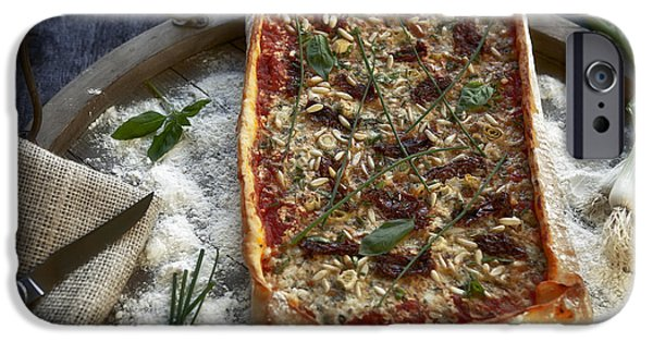 Herbs iPhone Cases - Pizza with herbs iPhone Case by Joana Kruse