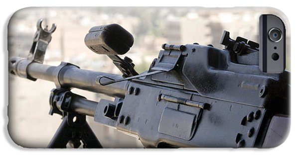 Overhang iPhone Cases - Pkm 7.62 Machine Gun Nest On Top iPhone Case by Terry Moore