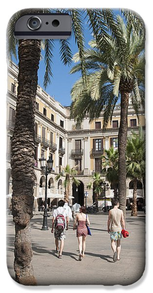 Placa Reial Barcelona Spain iPhone Case by Matthias Hauser