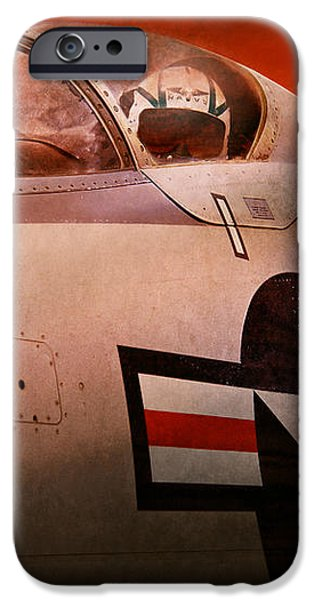 Plane - Pilot - Airforce - Go get em Tiger  iPhone Case by Mike Savad