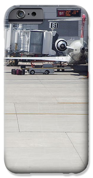 Plane at Gate iPhone Case by Shannon Fagan