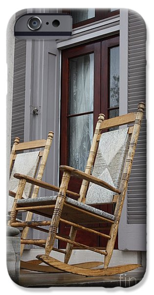 Plantation Rocking Chairs iPhone Case by Carol Groenen