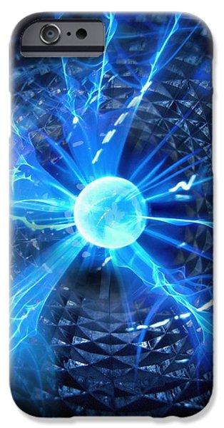 Sparking iPhone Cases - Plasma Sphere iPhone Case by Richard Kail