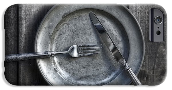 Silver iPhone Cases - Plate With Silverware iPhone Case by Joana Kruse
