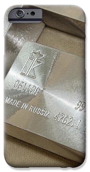 Platinum Bars iPhone Case by Ria Novosti