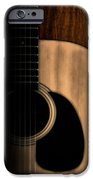 Epiphone Guitar iPhone Cases - Play Me iPhone Case by Bill Cannon