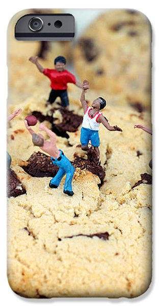 Playing basketball on cookies II iPhone Case by Paul Ge
