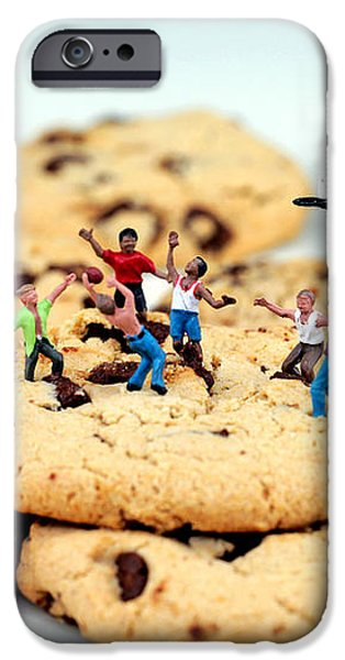 Playing basketball on cookies iPhone Case by Paul Ge
