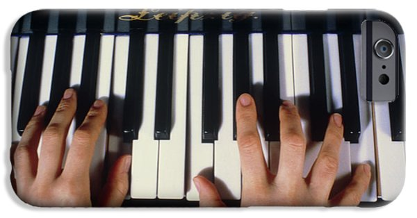 Dexterity iPhone Cases - Playing The Piano. iPhone Case by Damien Lovegrove
