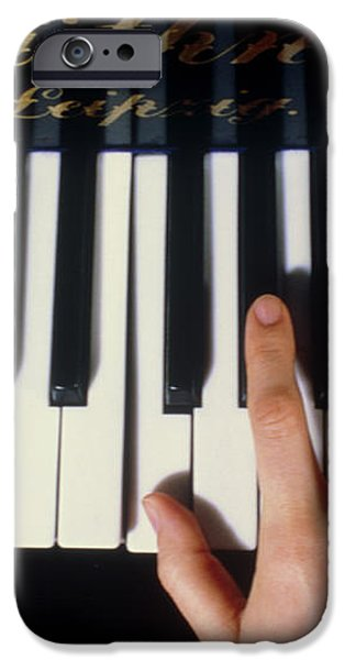 Playing The Piano. iPhone Case by Damien Lovegrove