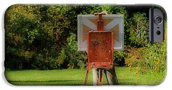 Painter Photographs iPhone Cases - Plein Air Painter iPhone Case by Andrew Fare