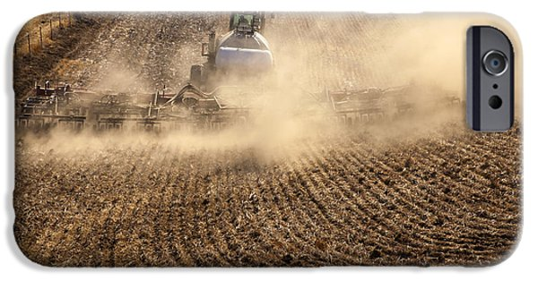 Plow iPhone Cases - Plowing the Ground iPhone Case by Mike  Dawson