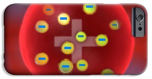 Atom Photographs iPhone Cases - Plum Pudding Model Of The Atom, Artwork iPhone Case by Jose Antonio PeÑas