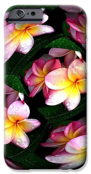 Plumeria Tile Ball iPhone Case by Cheryl Young