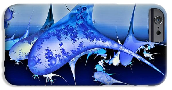 Whale Digital iPhone Cases - Pod iPhone Case by Sharon Lisa Clarke