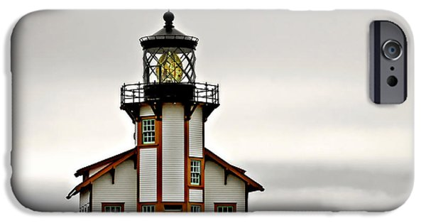 Lightstations iPhone Cases - Point Cabrillo Lighthouse California iPhone Case by Christine Till