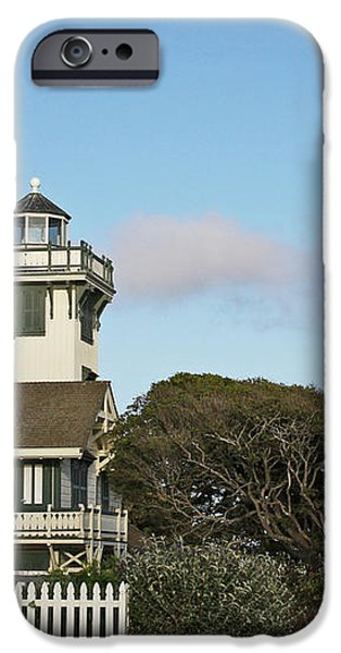Point Fermin Light - an elegant Victorian Style Lighthouse in CA iPhone Case by Christine Till