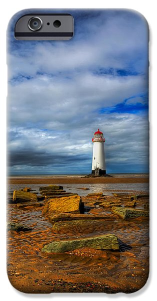 point of ayr beach iPhone Case by Adrian Evans