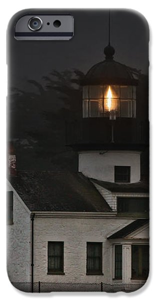 Point Pinos Lighthouse CA iPhone Case by Christine Till