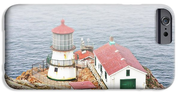 Lightstations iPhone Cases - Point Reyes Lighthouse at Point Reyes National Seashore CA iPhone Case by Christine Till