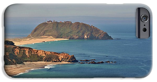 Lightstations iPhone Cases - Point Sur Lighthouse on Central Californias coast - Big Sur California iPhone Case by Christine Till