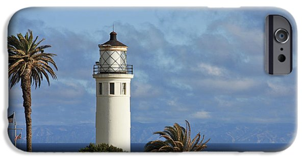 Lightstations iPhone Cases - Point Vicente Lighthouse on the cliffs of Palos Verdes California iPhone Case by Christine Till