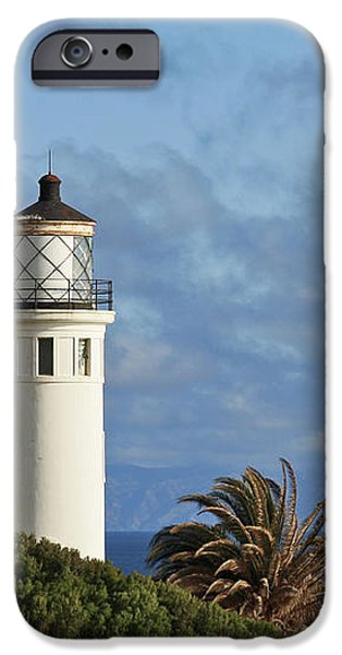 Point Vicente Lighthouse on the cliffs of Palos Verdes California iPhone Case by Christine Till