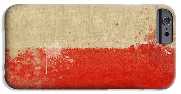 Sheets Photographs iPhone Cases - Poland flag  iPhone Case by Setsiri Silapasuwanchai