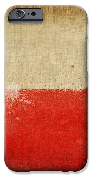 Poland flag  iPhone Case by Setsiri Silapasuwanchai