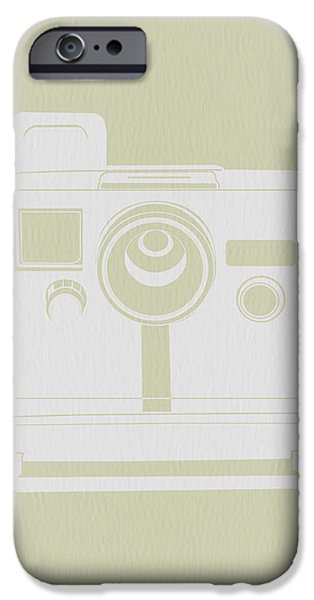 Camera iPhone Cases - Polaroid Camera 2 iPhone Case by Naxart Studio