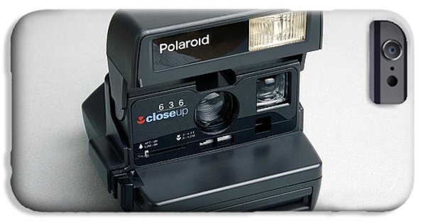 Cut-outs iPhone Cases - Polaroid Camera iPhone Case by Victor De Schwanberg