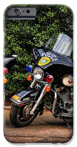 Police Motorcycles iPhone Case by Paul Ward