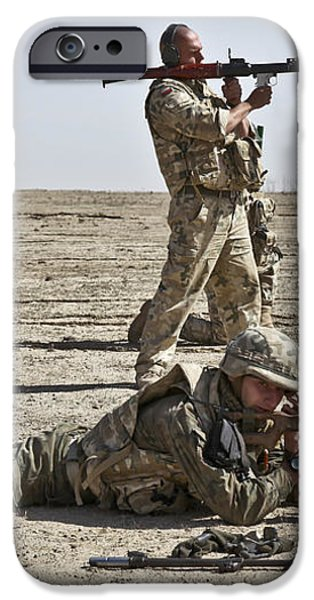 Polish Soldiers Prepare To Fire iPhone Case by Stocktrek Images
