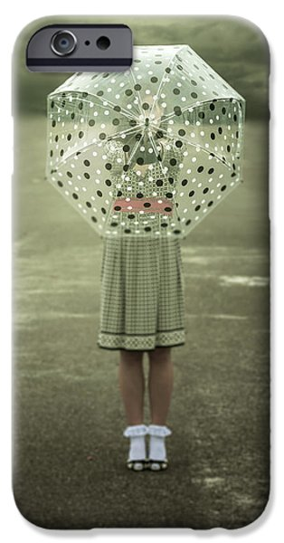 polka dotted umbrella iPhone Case by Joana Kruse