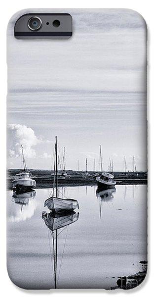 Sailing Photographs iPhone Cases - Pollywiggle Brancaster Staithe Norfolk UK iPhone Case by John Edwards